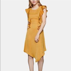 NWT BCBGeneration Ruffled Asymmetrical Dress